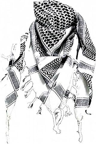 Palestinian Scarf - White Black (Palestinian Scarf For Men)