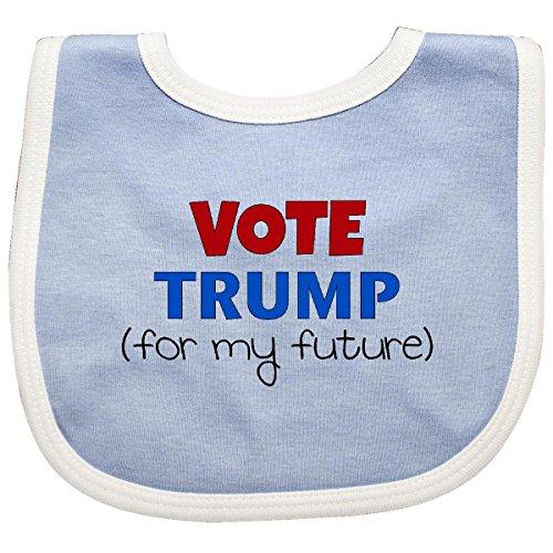 Inktastic - Vote Trump (for my future) Baby Bib Blue/White 23844