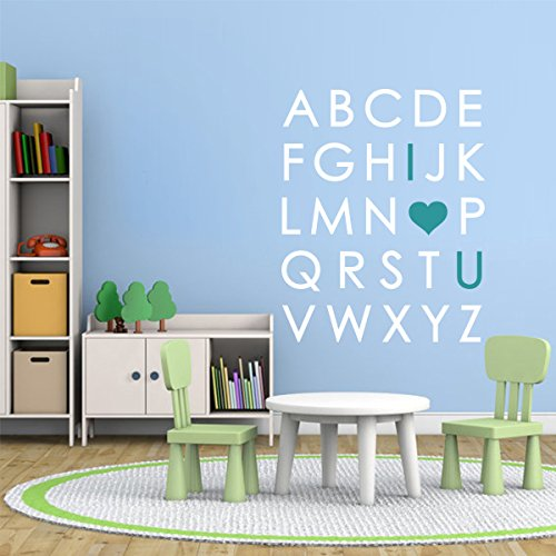 Nursery Stickers Removable Alphabet Letters