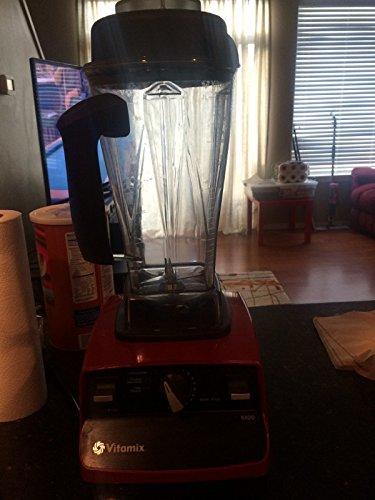Vitamix 6300: Featuring 3 Pre-Programmed Settings, Variable Speed Control, and Pulse Function . Includes Savor Recipes Book , DVD and Spatula. (RED)