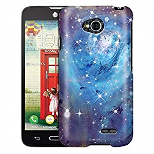 LG Realm Case, Slim Fit Snap On Cover by Trek Nebula Blue Case