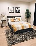Hand Made Hand Woven Lurex Fluffy Modern Thick Plush Soft Pile Living Room Bedroom Floor Shag Rug Throw Carpet Titanium Copper Gray Grey Metallic Patterned 8x10 Area Rug Large ( Treasure Titanium )