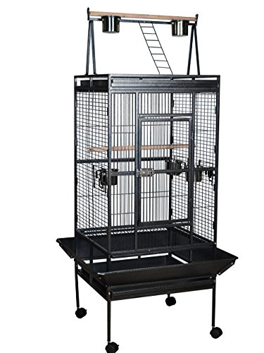 TMS® Large Bird Cage Parrot Finch Cage Play Top Gym Perch Stand Cockatoo Pet Supplies