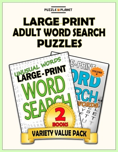 (Large Print Adult Word Search Puzzles: Word Search Puzzle Books Value Pack (Puzzle Books Value Packs) (Volume 3))