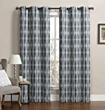 Set of 2 Panels 76″Wx84″L -Royal Tradition – Mansoon- Grey – Woven Jacquard Insulated Blackout Curtain, 38-Inch by 84-Inch each Panel. Package contains set of 2 panels 84 inch long. Review