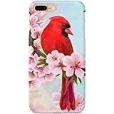 Monarque iPhone Case with Smooth Premium Durable Scratch-Resistant TPU Material with Cardinal Design Fit For iPhone 6 Plus iPhone 7 Plus iPhone 8 Plus