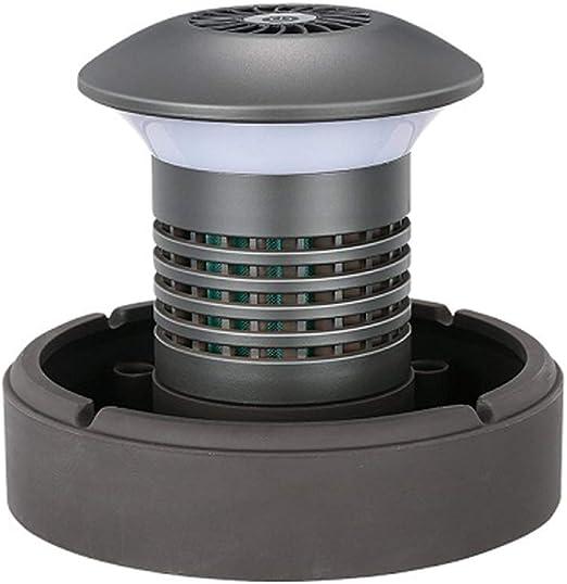 YHGXS Cenicero Sin Humo Purificador De Aire para, Purificador De Filtro De Aire De Ceniza Portátil Recargable De Iones Negativos USB para El Hogar, Blanco, Negro: Amazon.es: Hogar