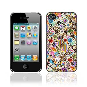 Designer Depo Hard Protection Case for Apple iPhone 4 4S / Cool & Cute Tatto Pattern