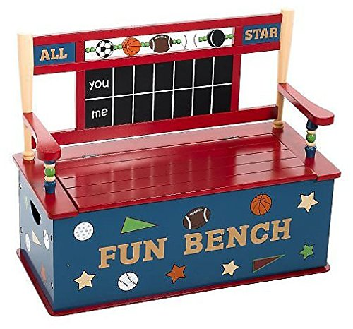 All Star Sports Toy Box - Wildkin All Star Sports Toy Box Bench