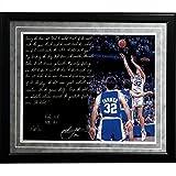 NCAA Duke Blue Devils Framed 16x20 Christian Laettner Facsimile 'The Shot' Story Photo