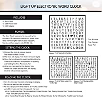 Sharper Image Light Up Electronic Word Clock Copper Finish With Led Light Display Usb Cord And Power Adapter 7 75in Square Face Unique