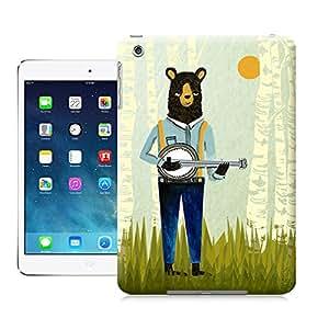 Personal animal head pattern Bear Playing Banjo for ipad mini case cover factoyonline