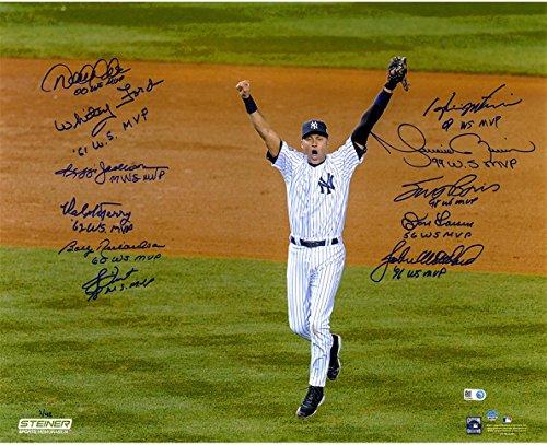 16x20 Multi Autographed Photo - MLB New York Yankees World Series MVP Multi-Signed & Inscribed Derek Jeter 16x20 Photo