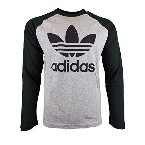 Adidas Trefoil LS Tee S Med Grey