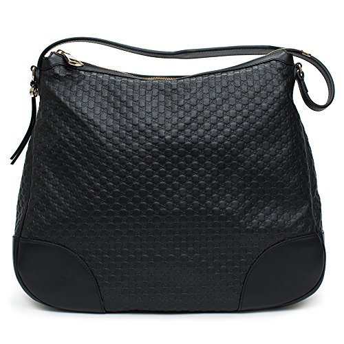 Gucci-Bree-Guccissima-Leather-Hobo-Bag-Black-New