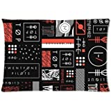 Twenty One Pilots Custom Cotton&Polyester Zippered Pillowcase 20x26 (Twin Sides)