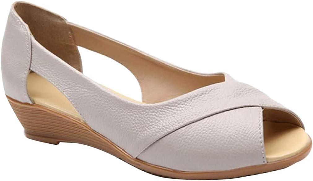 Daytwork Chaussures Femme Mocassin Oxfords Sandales Talon