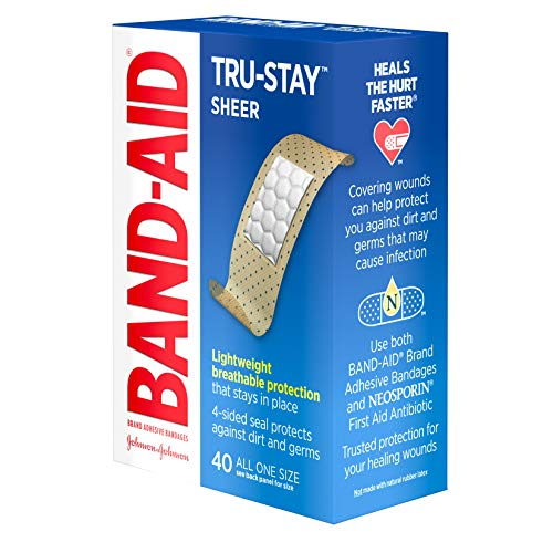 Band-Aid Brand Tru-Stay Sheer Strips Adhesive Bandages for First Aid and Wound Care, All One Size, 40 ct by Band-Aid (Image #11)