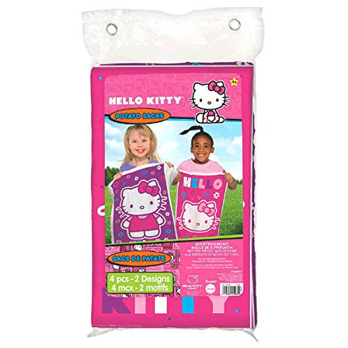 Amscan Cute Hello Kitty Birthday Party Potato Sack Game Activity, 37'' x 23 1/3'', Pack of 4 Supplies , 24 Pieces by Amscan
