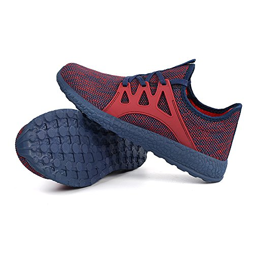Mxson Heren Ultra Lichtgewicht Ademend Mesh Street Sport Wandelschoenen Casual Sneakers Rood Blauw