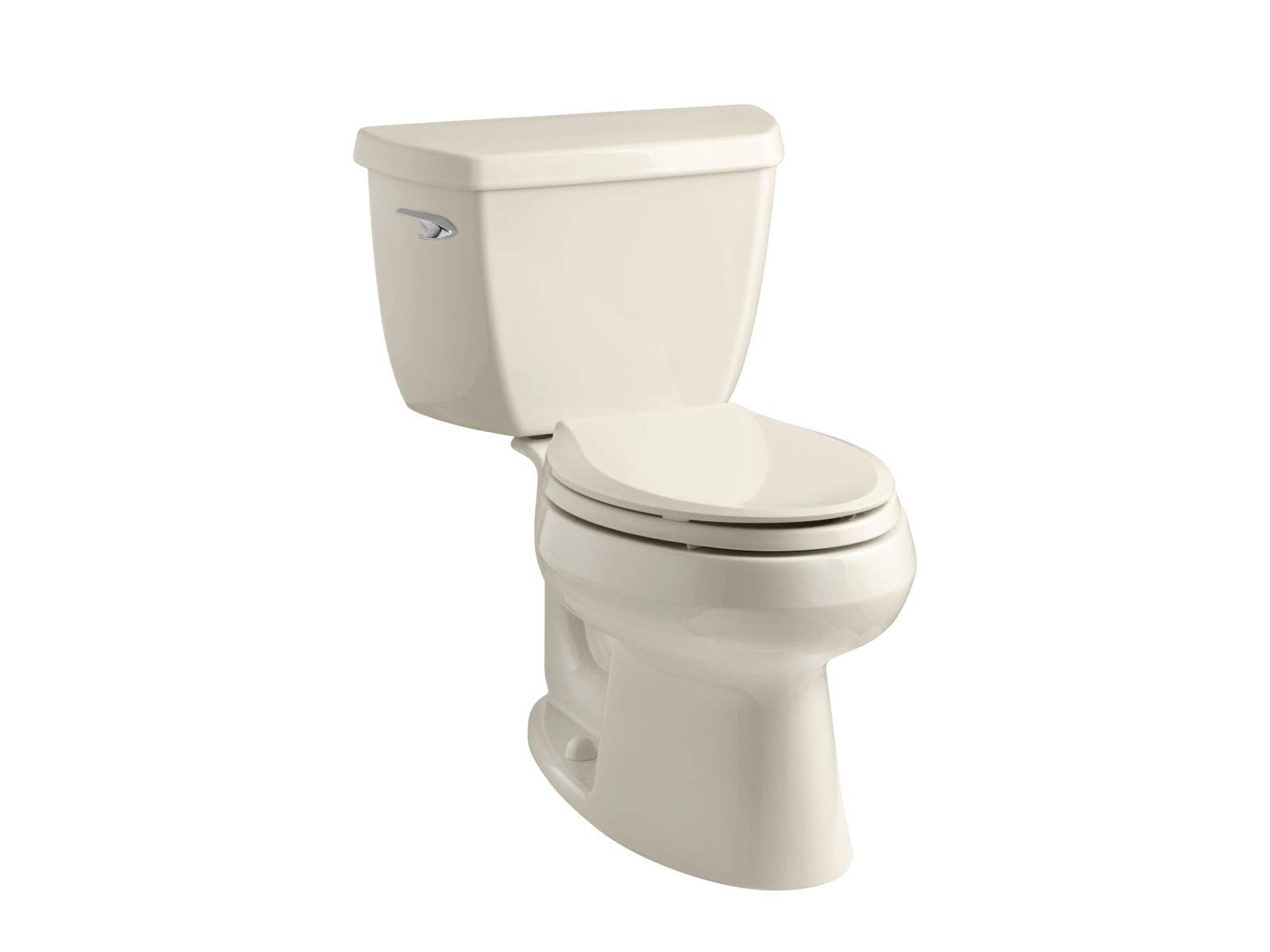 Kohler K-3575-47 Wellworth Classic 1.28 gpf Elongated Toilet with Class Five Flushing Technology and Left-Hand Trip Lever, Almond by Kohler