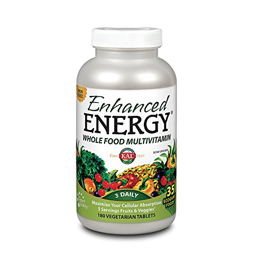 KAL Enhanced Energy Iron Free Tablets, 180 Count