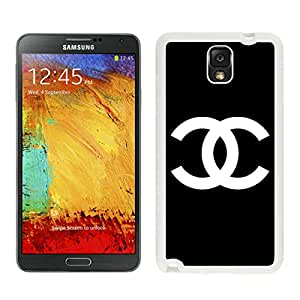 Popular And Unique Samsung Galaxy Note 3 Case Designed With CHANEL Logo 11 White Phone Case For Samsung Note 3 Cover