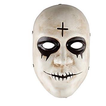WHFDRHWSJMJ Mascara Halloween Terror de LED Cosplay Decoraciones navideñas Decoraciones de Halloween Máscaras de Halloween Disfrutando