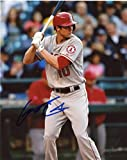 GRANT GREEN LOS ANGELES ANGELS SIGNED AUTOGRAPHED AT BAT 8X10 PHOTO W/COA