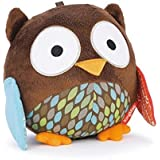 KingMas Cute Animal Ball shaped Stuffed Soft Toy Bell Rattle Gift Baby Kids - Owl