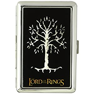 Buckle-Down Business Card Holder - THE LORD OF THE RINGS White Tree of Gondor Black/White/Gold - Large