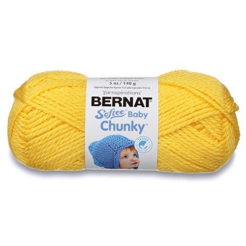 - Bernat Softee Baby Chunky Yarn, Solid, 5 oz, Gauge 5 Bulky Chunky, Buttercup