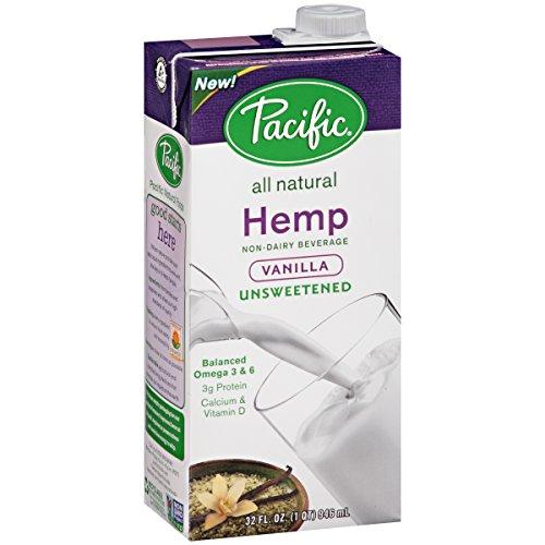Pacific Natural Foods Hemp Milk - Unsweetened Vanilla - 32 oz