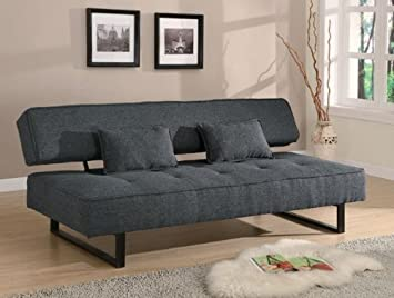 Coaster 300137 Sofa Beds And Futons Contemporary Armless Bed With Tufted Seat Accent Pillows Included
