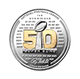 NFL Denver Broncos vs Carolina Panthers Super Bowl 50 Official Two Tone Flip Coin, Brown