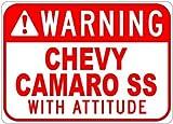 warning camaro - Metal Signs Chevy Camaro Ss Warning With Attitude Sign - 12 X 18 Inches
