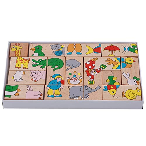 Best Quality - Blocks - Child Animal Domino Building Blocks Wooden Toys Infant Domino Educational Toys Child Birthday GIF 15Pcs/Set Baby Toys Beech Wood - by Viet SF - 1 Pcs