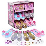 Princess Dress Up and Play Shoe and Jewelry Boutique (set Includes 4 Pairs)