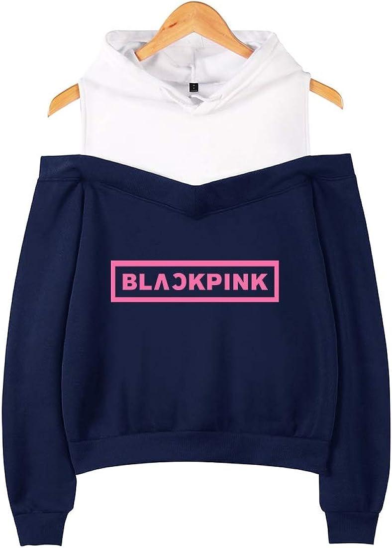 Xsayjia Kpop Blackpink Sweat /à Capuche Pull Sweat Pull Rose Jennie Jisoo Lisa pour Fans Sweat-Shirt Chandail