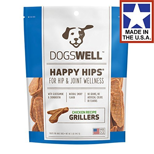 Dogswell Happy Hips Chicken Recipe Grillers Made in the USA 15oz - Dogswell Happy Hips Chicken
