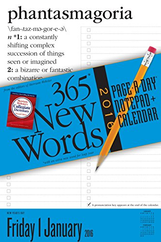 365 New Words Page-A-Day Notepad + Calendar 2016