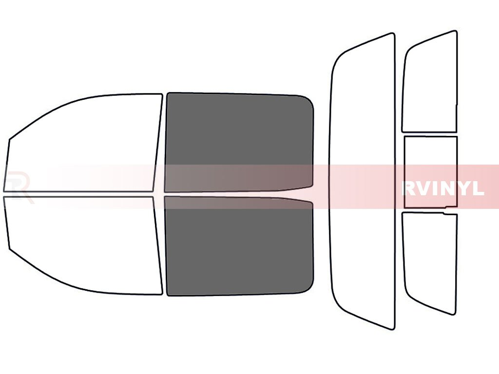 4 Door - Rear Windshield Kit 20/% Rtint Window Tint Kit for Chevrolet Silverado 2014-2018