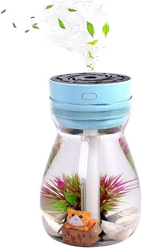 Micro Landscape Humidifiers, Mini Humidifier, Small Humidifier, Car Humidifiers,Air Humidifier,personal humidifier,Cool Mist Humidifiers For Bedroom Kids,Office Desk Humidifier(Blue)