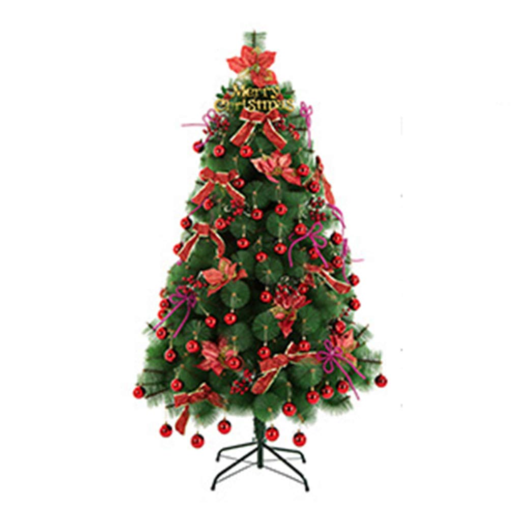 XF Christmas tree-120cm Artificial Christmas Tree All Occasions Green Color Pine Needle Tree with Metal Bracket 3.92ft // (Color : Red)