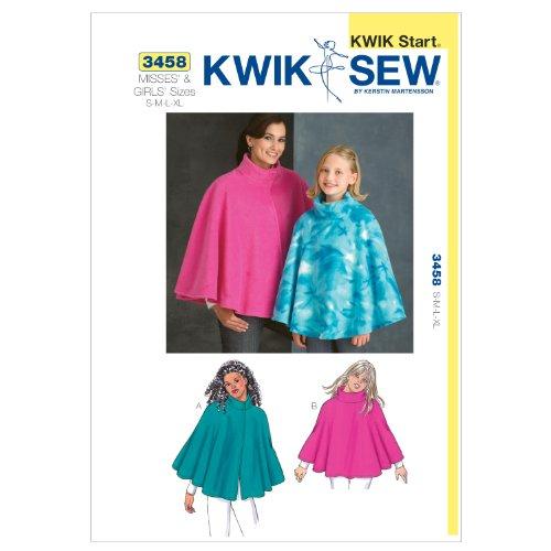 KWIK-SEW PATTERNS Kwik Sew K3458 Ponchos Sewing Pattern, Size S-M-L-XL ()
