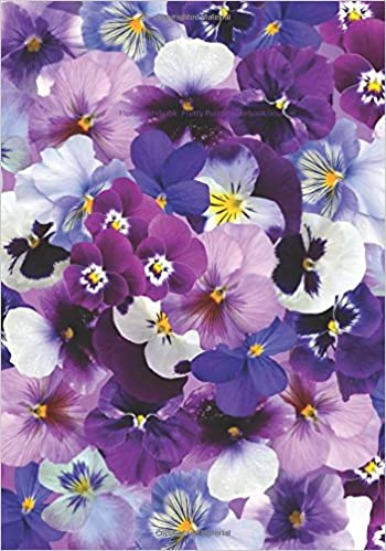 Floral Notebook Pretty Purple Spring Notebookjournal Lined