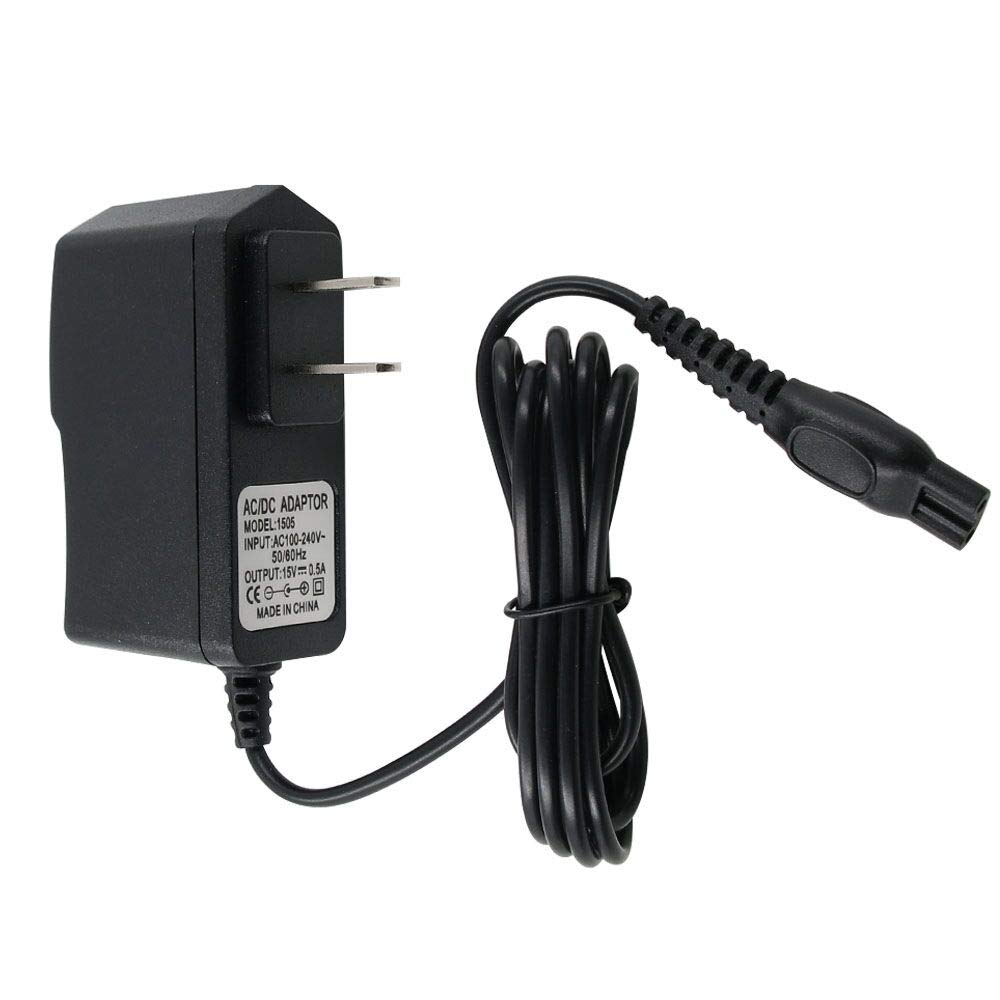 New Charger for Philips-Norelco-HQ8505 Norelco 7000 5000 3000 Series Electric Shaver Razor, Aquatec, Arcitec, Multigroom Beard Trimmer & More 15V AC Adapter Power-Supply Cord
