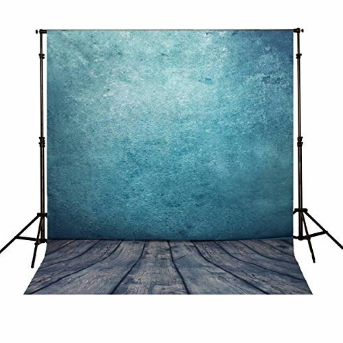 MOHOO 5x7ft Silk Photography Backdrop Background Photo Studio Prop Ocean Blue Backdrop 1.5x2.1M