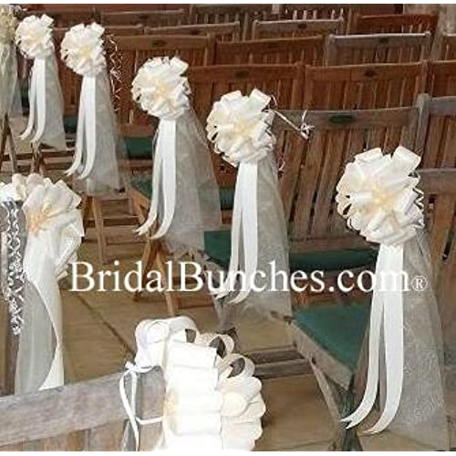 church bench decorations wedding church pew decorations 2941