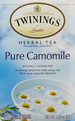 Twinings Pure Camomile Herbal Tea,  20 Tea Bags box